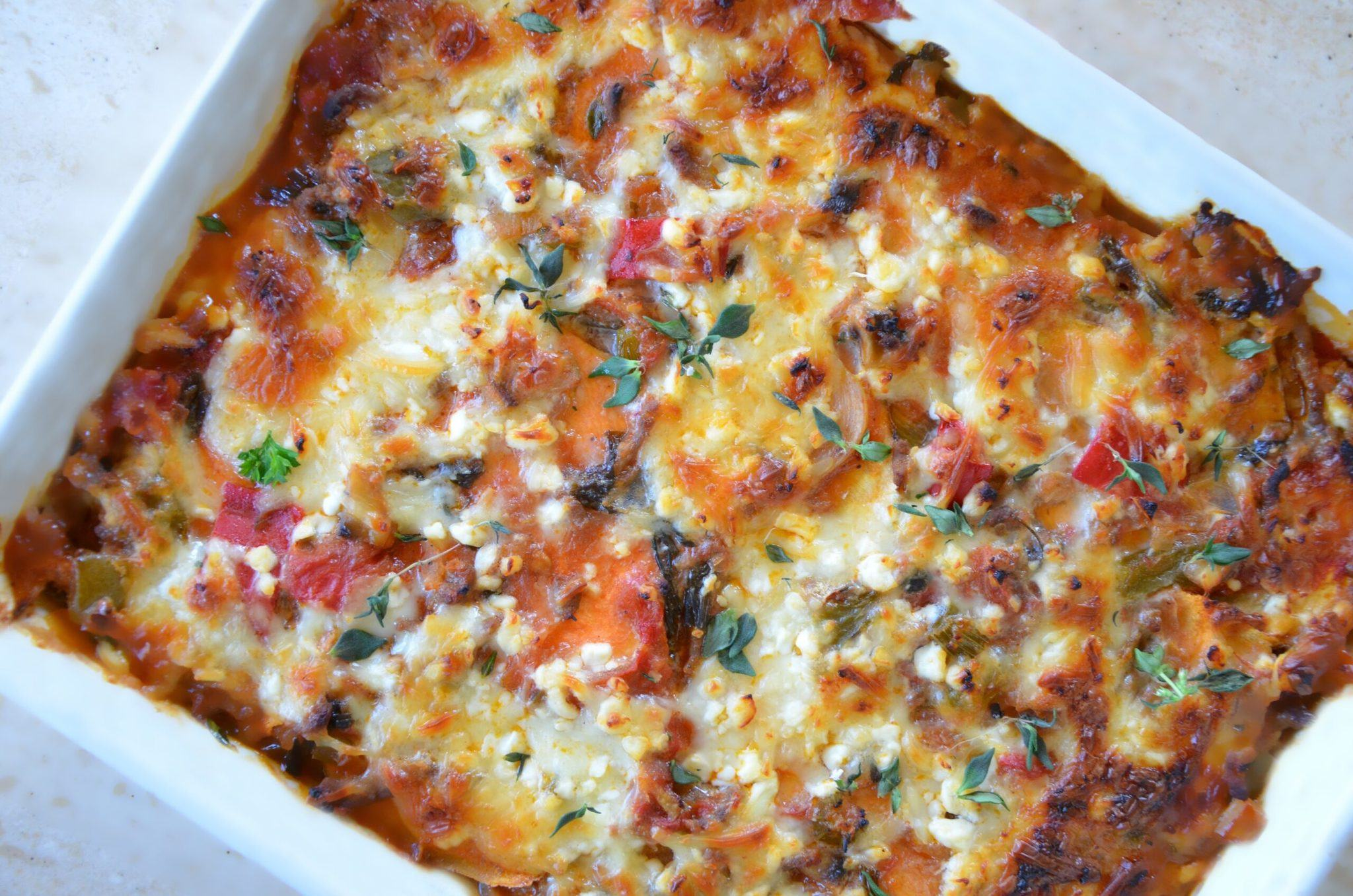 Sød kartoffel lasagne