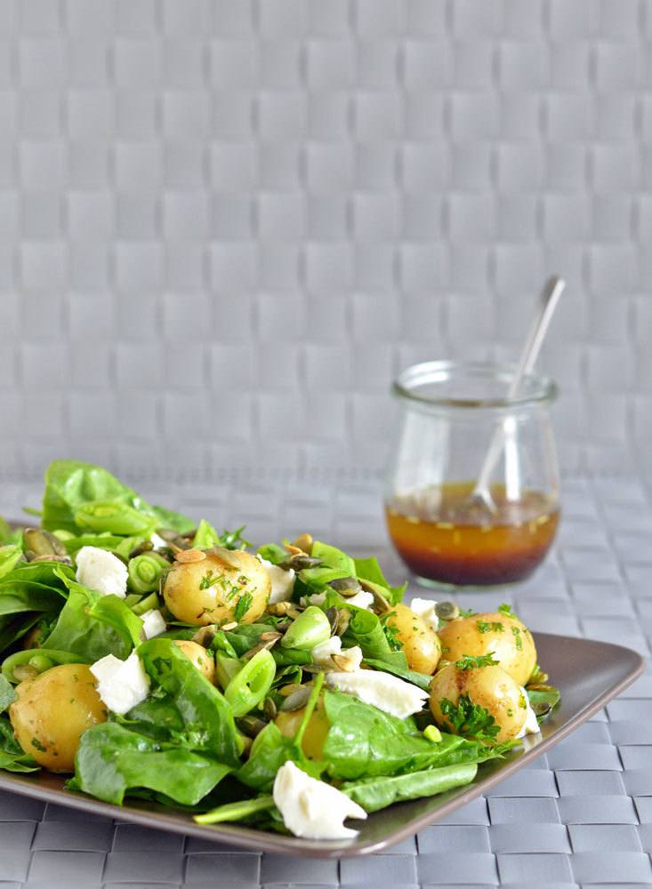 Frisk kartoffelsalat med spinat 6