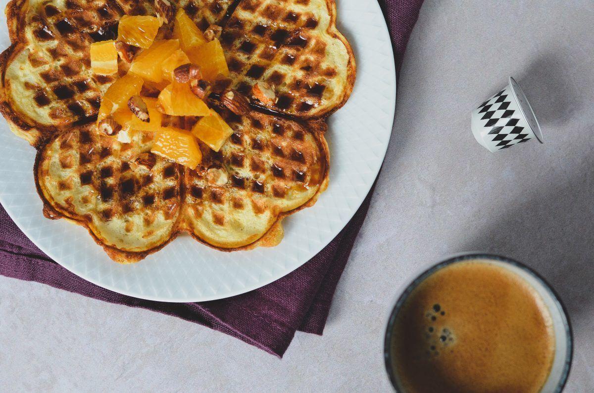 Risengrødsvafler med kaffesirup