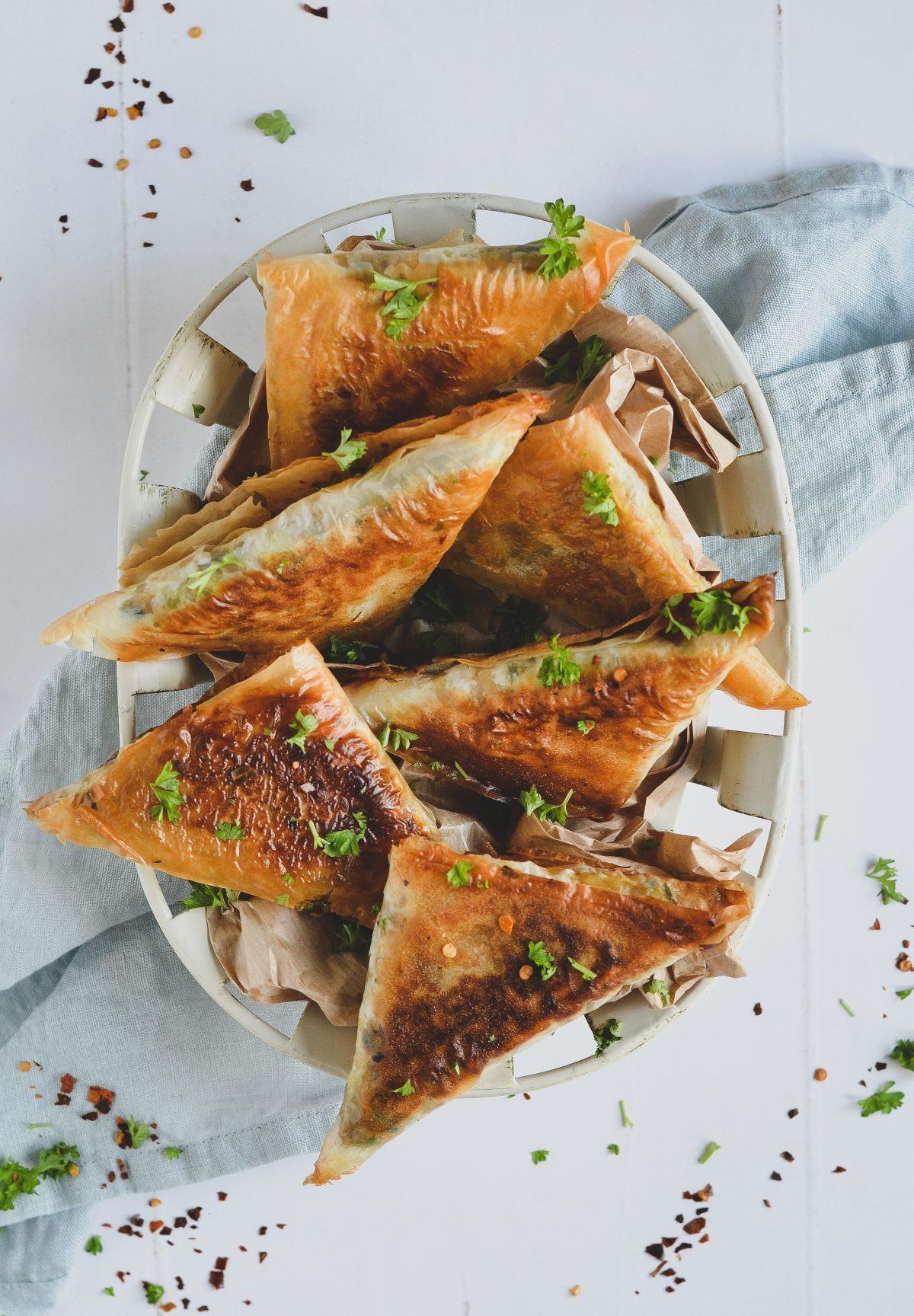 Samosa med græskar og kål