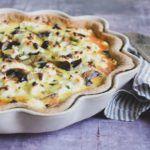 Champignontærte med timian og feta