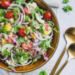 Quinoa salat med ristede kikærter