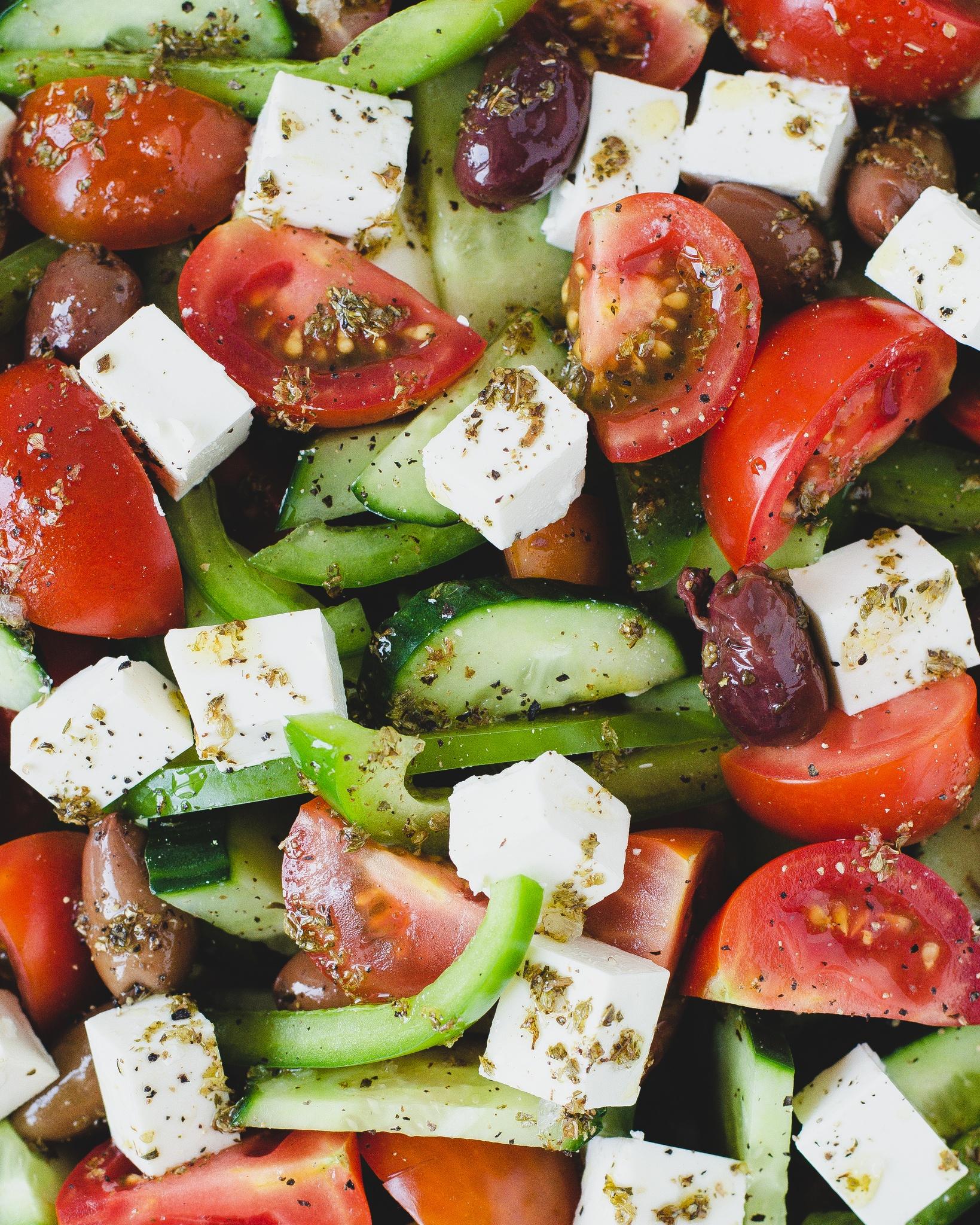 græsk salat med oliven