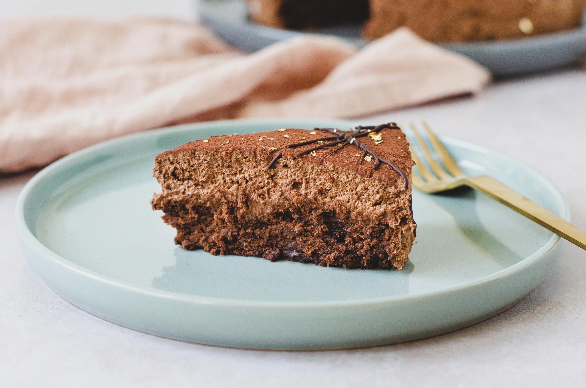 gateau marcel - kage med mousse